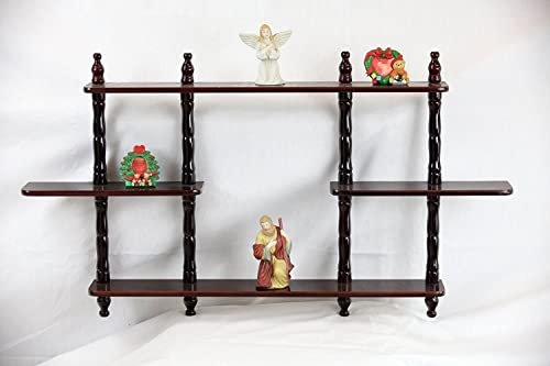 Amazing Buys 3 Tier Wall Rack Shelf in A Cherry Finish