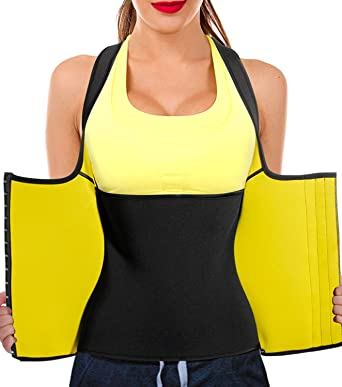 aad5df6454 Junlan Women Neoprene Waist Trainer Vest Corset Tank Top Sauna Body Shaper  Weight Loss  Amazon.co.uk  Clothing