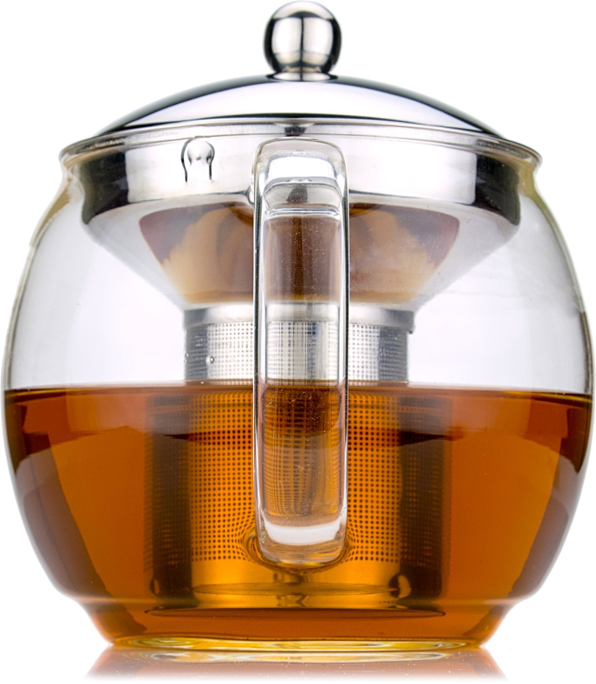 Glass Teapot with Infuser for Blooming and Loose Leaf Tea Pot by Cozyna | Holds 5-6 Cups | Includes Recipe Book by Cozyna (Image #2)