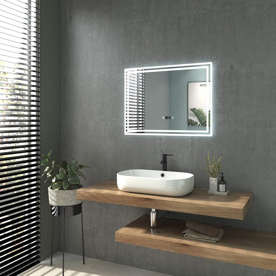 50x70 cm con toccare interruttore Specchio da bagno a LED con illuminazione specchio da parete luce bianca fredda
