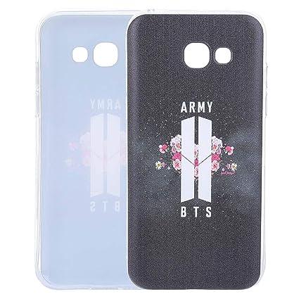 half off 9b198 f4d9c Teblacker BTS Phone Case, Kpop Bangtan Boys Ultra-Thin Anti-Slip Soft TPU  Protective Phone Cover for iPhone & Samsung(A5 2017 Army)