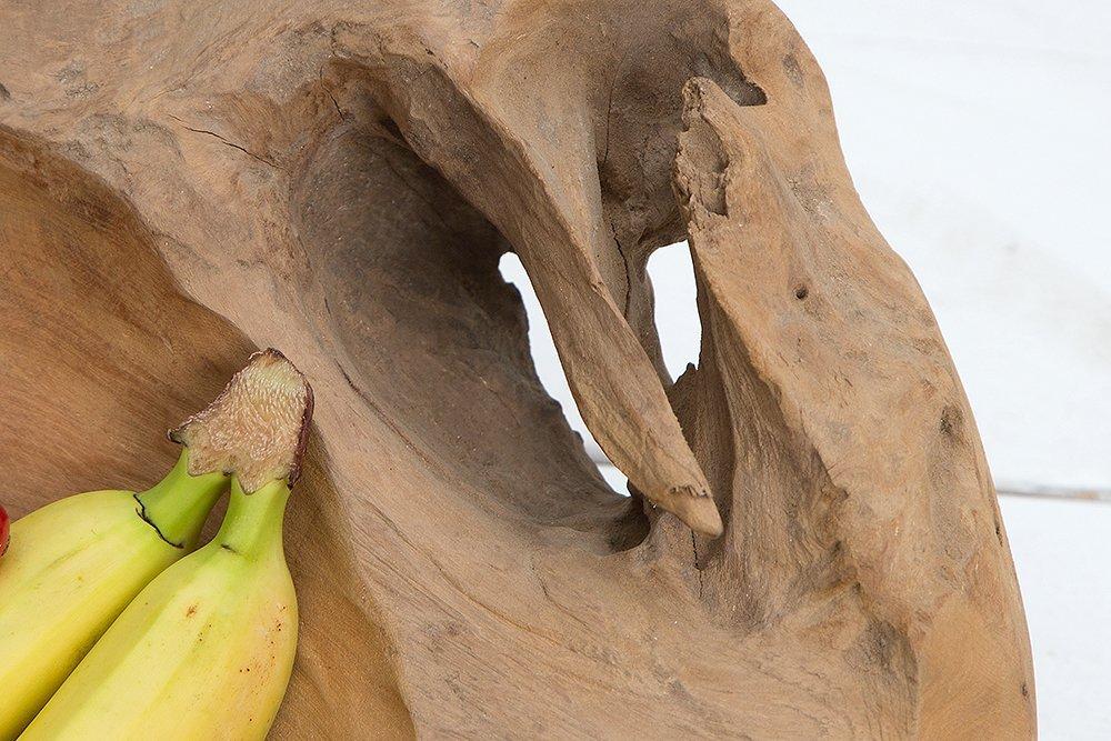 Exklusive Teak Holz Schale 40cm NATURE ROOT massives Wurzelholz natur