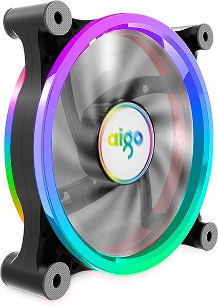 Aigo Carcasa PC Ordenador Ventilador Enfriador, RGB LED 120 mm ...