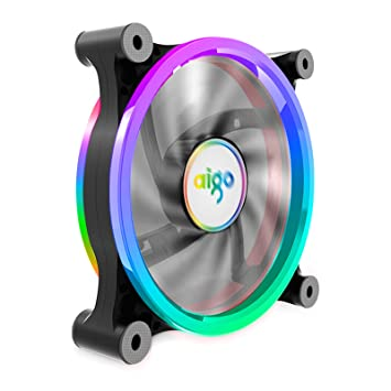 Aigo Carcasa PC Ordenador Ventilador Enfriador, RGB LED 120 ...