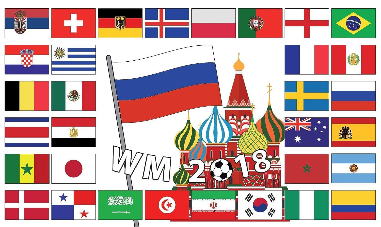 Länder-Flaggen Länder-Fahnen zur Fußball WM EM 90x150cm Fan-Artikel Fahne Flagge