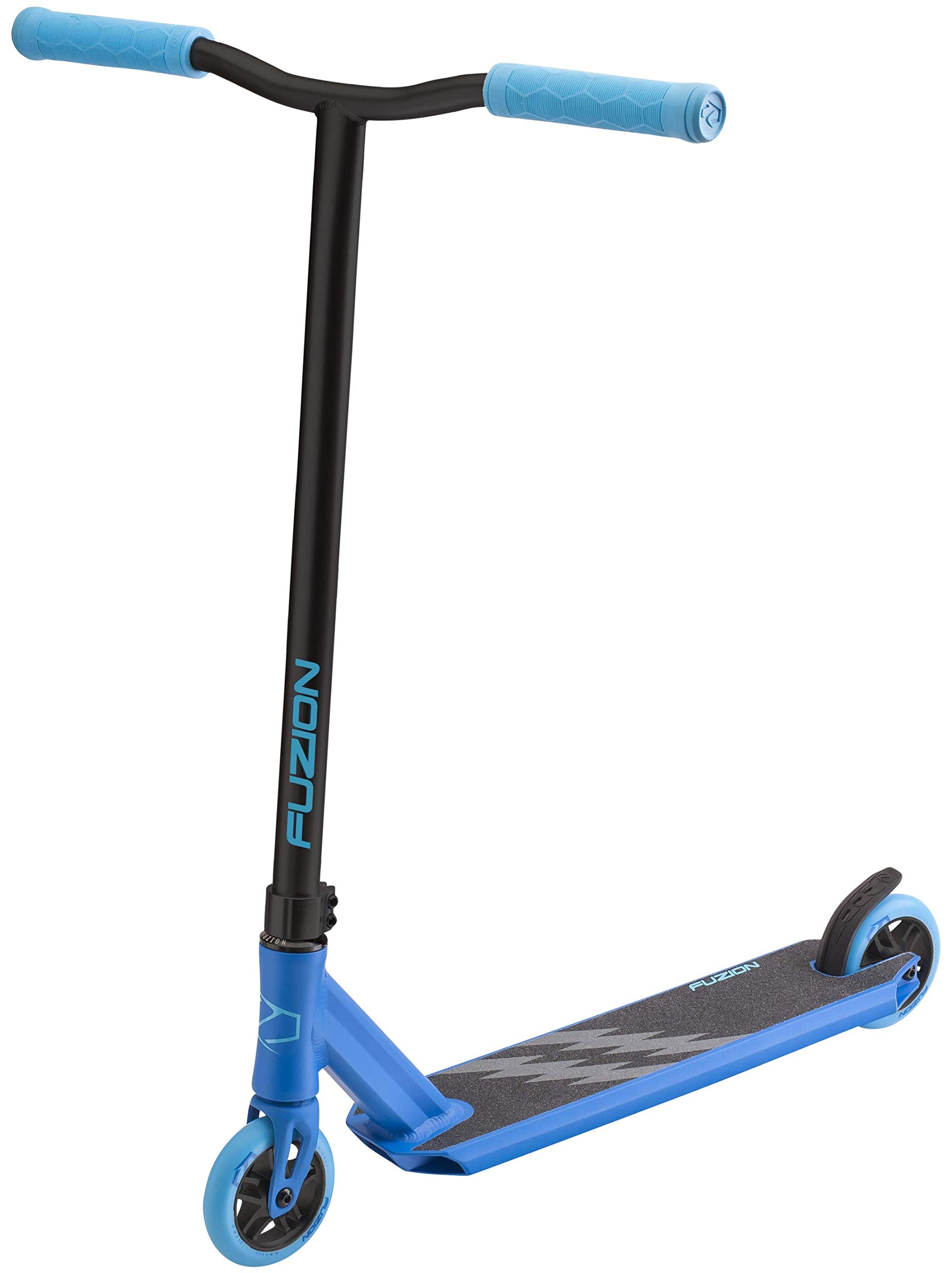 Fuzion Z250 Pro Scooter - All 4.37'' x 20.5'' Deck Dimensions - 110mm Aluminium Core Wheels - HIC Compression System -Chromoly T-Bars (2018 Blue)