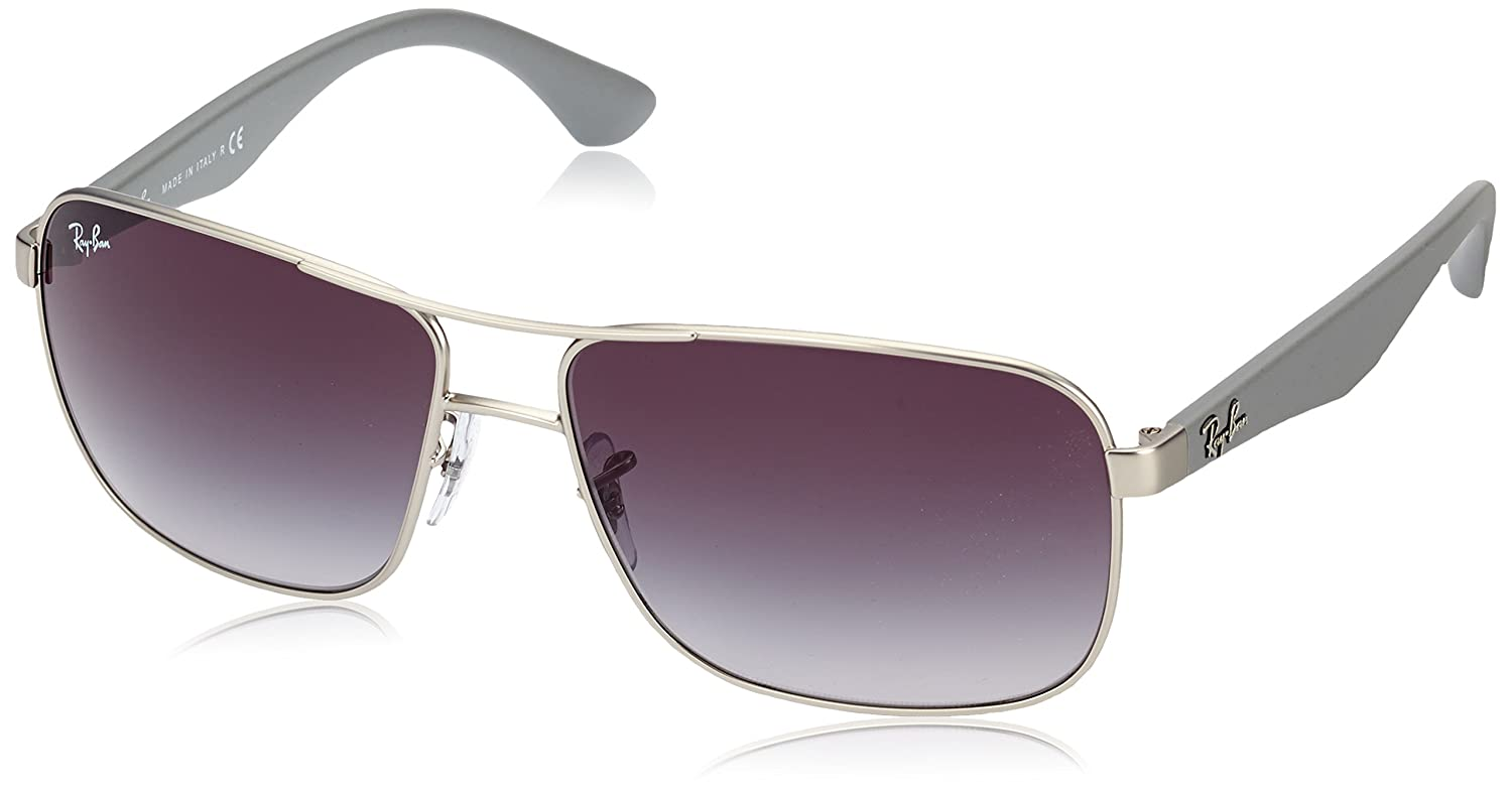 6a45f2c1ac0 Ray-Ban 3516 019 8G Matte Silver 3516 Square Aviator Sunglasses Lens  Category 3  Amazon.co.uk  Clothing
