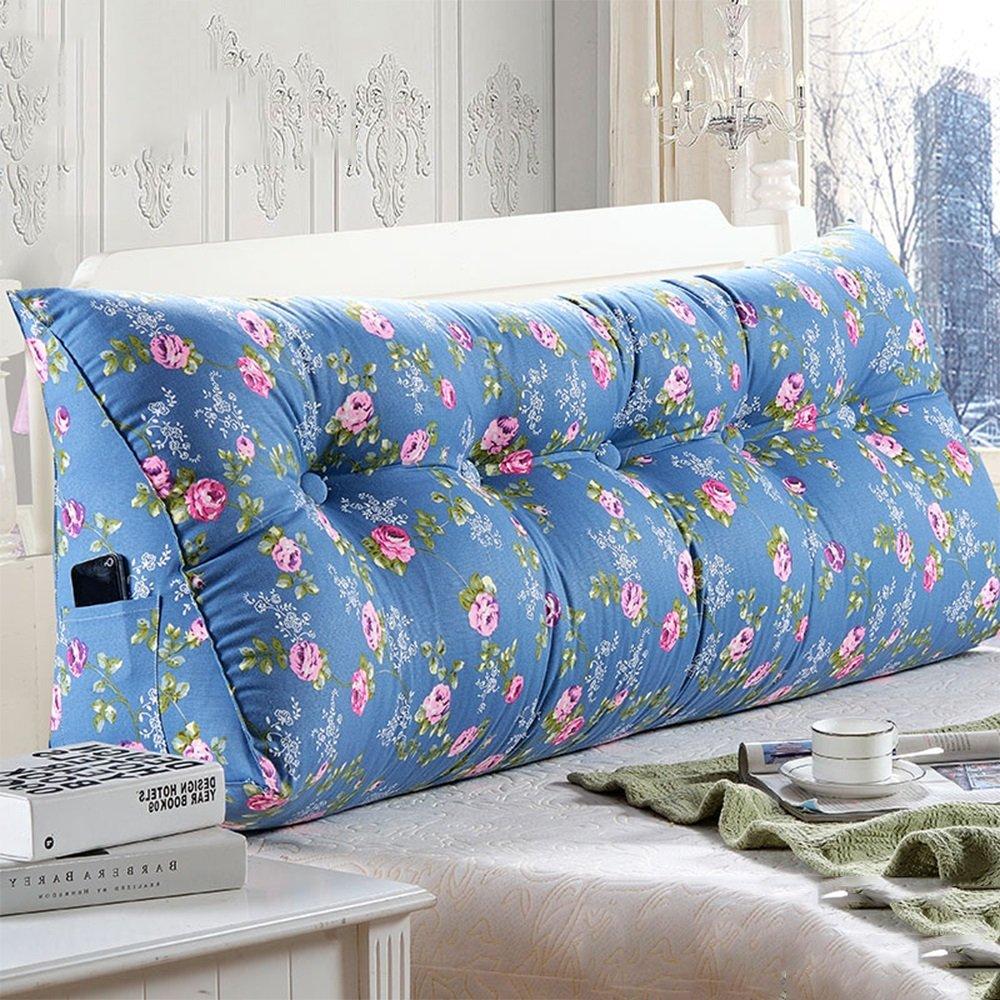 クッション ベッドサイドの背もたれの枕のベッド大きな背もたれのベッドのクッションソフトケースのクッション腰の枕簡単に洗ってサイドストレージバッグを洗浄する 枕 (色 : 3, サイズ さいず : 100*23*50cm) B07F631GYK 100*23*50cm|3 3 100*23*50cm