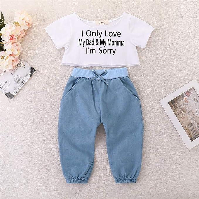 Amazon.com: Juego de ropa para bebés y niñas de 0 a 3 ...