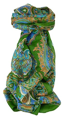 Classic Paisley Pañuelo Larga Seda de Mora Dara Mint de Pashmina & Silk
