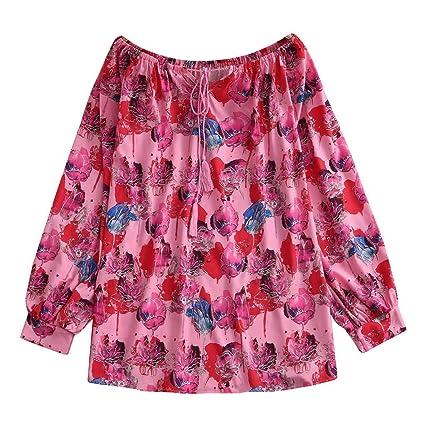 Camisa Mujer, Wave166 Camisa Mujer Boho Estampada Estilo Talla ...