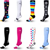 NEWZILL Compression Socks (1 pair), Men & Women Running Socks - BEST Graduated Athletic Fit for Sports, Nurses, Shin Splints, Maternity & Flight Travel