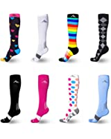 NEWZILL Compression Socks (1 pair), Men & Women Running Socks - BEST Graduated Athletic Fit for Sports, Nurses, Shin Splints, Maternity & Flight Travel