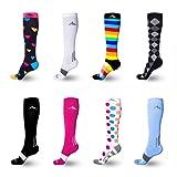 Amazon Price History for:NEWZILL Compression Socks (1 pair), Men & Women Running Socks - BEST Graduated Athletic Fit for Sports, Nurses, Shin Splints, Maternity & Flight Travel - Boost Stamina, Circulation & Recovery