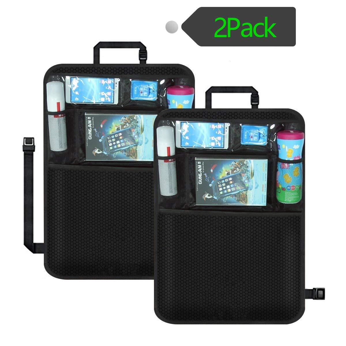 2 Pack Kick Mats Car Back Seat Protector Waterproof Seat Back Cover with Tablet Holder by UMJWYJ by UMJWYJ
