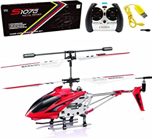 Cheerwing S107/S107G Phantom 3CH 3.5 Channel Mini RC Helicopter with Gyro Red
