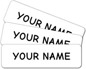 Personalized Custom Multi-Use Labels, Waterproof, Dishwasher and Microwave Safe, White (42 Pack)