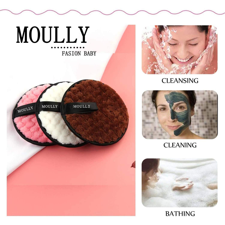 MOULLY Make up Entferner Pads Mikrofaser mit W/äschesack Waschbare Abschminkpads Nachhaltig Wiederverwendbare Abschminkt/ücher Wattepads Reinigungspads Make-Up-Entferner-Pads Umweltfreundlich