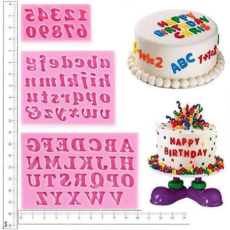 Decoración de Pasteles letras, alfabeto número plantillas cumpleaños boda decoración forma y Bake molde de