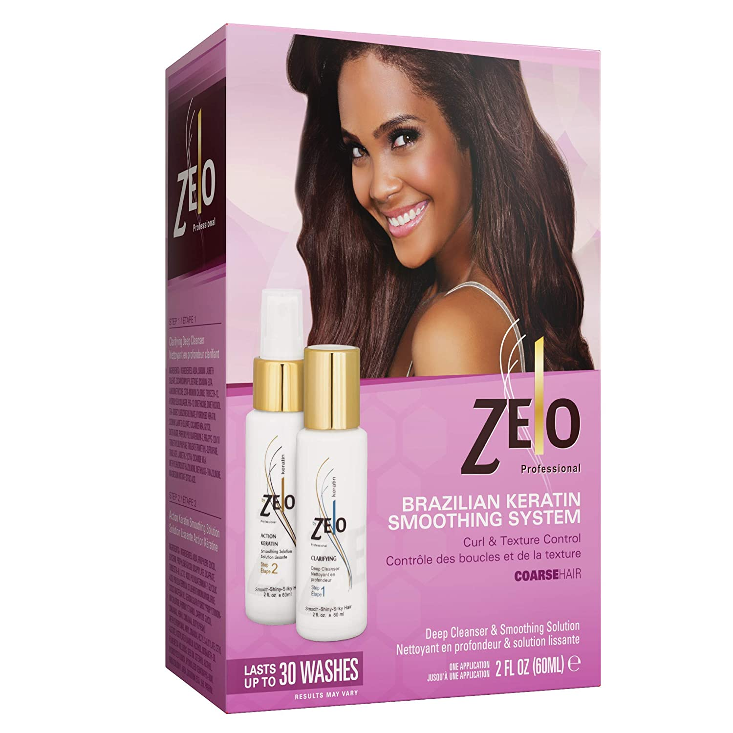 ZELO Smoothing Brazilian Keratin Hair Treatment Kit With Muru-Muru, Cupuacu, Carite Butter and Inca oil - Naturally Eliminates Frizz, Relax & Straightens Hair Without Harmful Chemicals