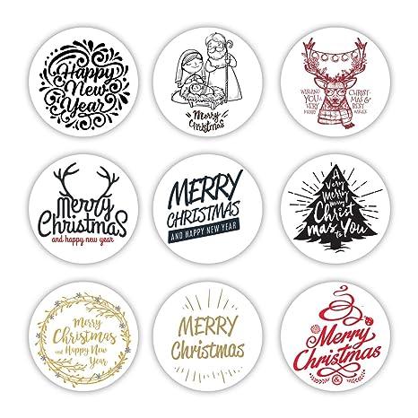 9 Cute Merry Christmas pegatinas decorativas | Regalo de ...