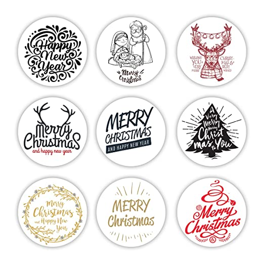 9 Cute Merry Christmas pegatinas decorativas | Regalo de ...