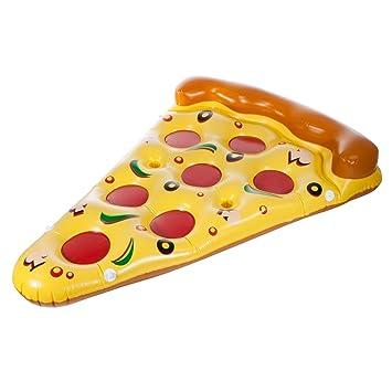 Colchoneta hinchable de Smartfox tamaño XXL, trozo de pizza, para la piscina o el mar, aprox.180 x 150 cm: Amazon.es: Juguetes y juegos