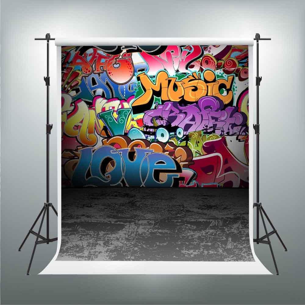Amazon com graffiti vinyl background 80s 90s themed birthday party decoration hip hop photography backdrop customized photo background studio props