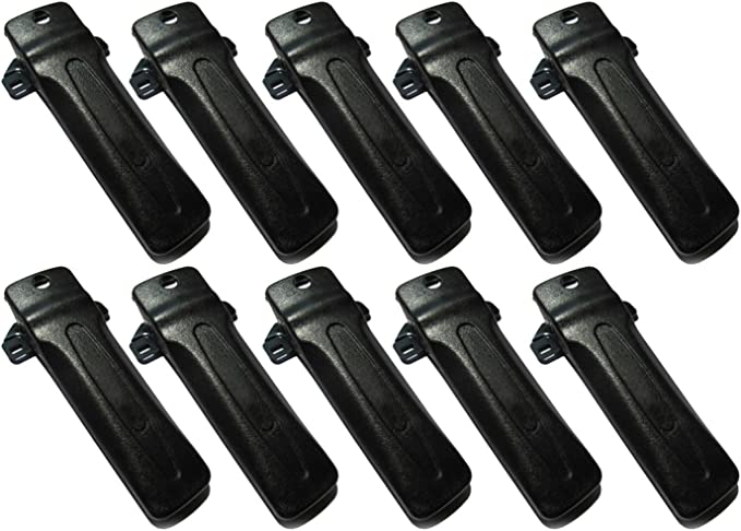 bestkong 10 X Belt Clip for Kenwood Radio TK-290 TK-390 TK-480 TK-481 TK-190 TK-2302 TK-3302 TK-2402 TK-3402 TK-272G TK-372G TK-2180 TK-3180 KBH-10