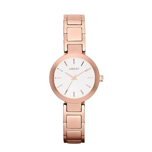 4323a51353aa DKNY Reloj analogico para Mujer de Cuarzo con Correa en Acero Inoxidable  NY2400  Amazon.es  Relojes