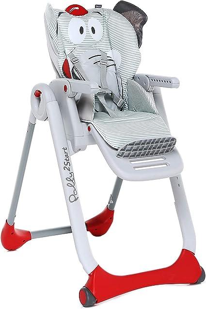 Chicco Polly 2 Start Trona y hamaca transformable y compacta, con 4 ruedas y freno, de 0 a 3 años, diseño elefante gris (Baby Elephant): Amazon.es: Bebé