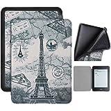 Capa Kindle 10ª geração com iluminação embutida – Auto Hibernação – Fecho Magnético – Silicone - Paris