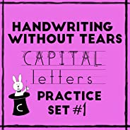 Handwriting Without Tears Capital Letters Practice Sheets Set #1 - Upper case letters - handwriting practice with phonics an