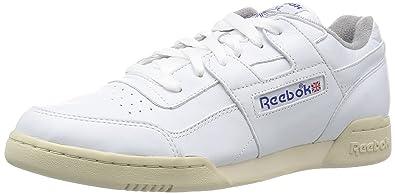 Reebok Workout Plus R12 - White Royal Blue-UK 11 EU 45.5  Amazon.co ... f79655fbe