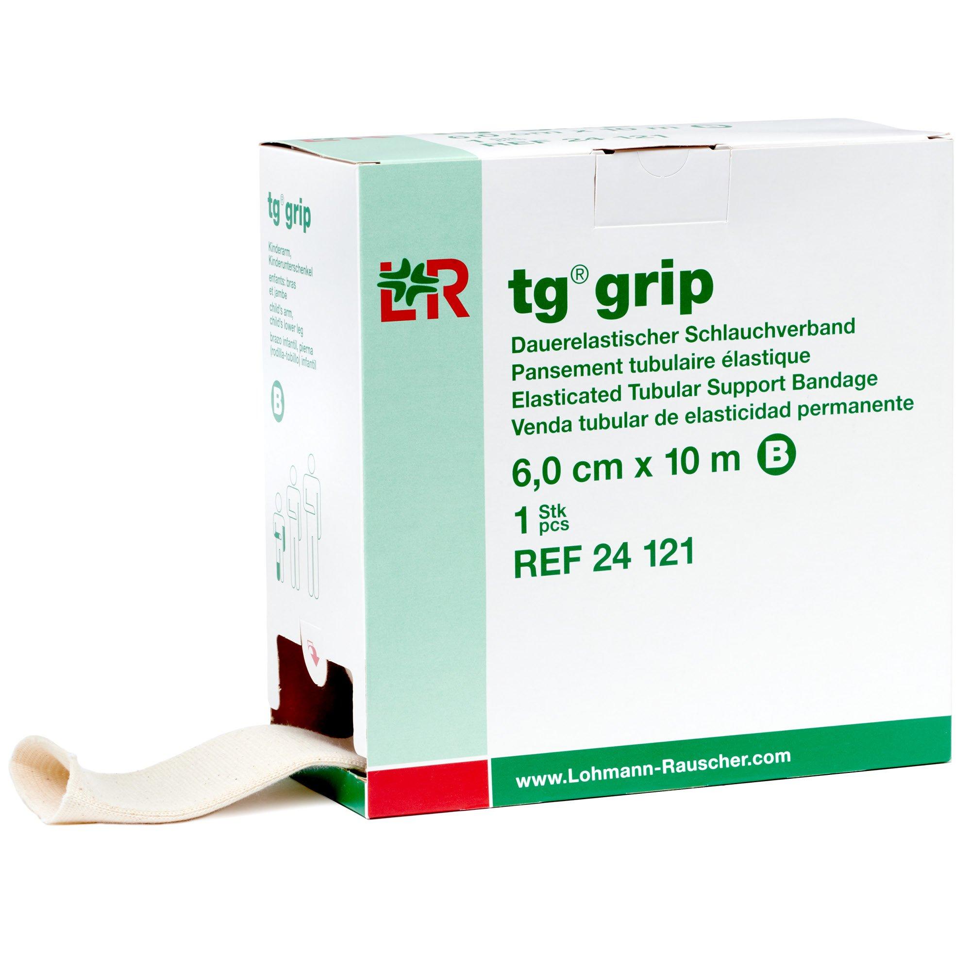 tg Grip Elastic Tubular Compression Bandage, Seamless Tube Stockinette Wrap for Retention, Lymphedema, Swelling, 85% Cotton, Washable & Reusable, Size B