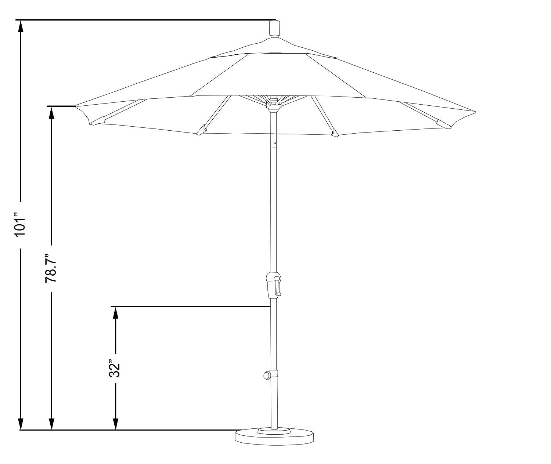 amazon com california umbrella 9 round aluminum market umbrella