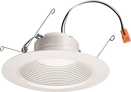 Matte White 2700K|Warm White Lithonia Lighting 6SL RD 07LM 27K 90CRI MW M6  6 Dimmable LED Retrofit Module with Integrated Bluetooth Speaker