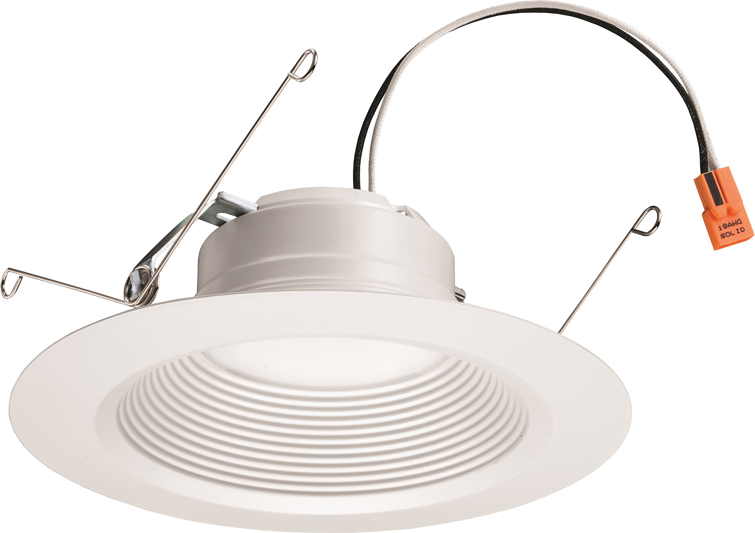 Lithonia Lighting 5/6 Inch White Retrofit LED Recessed Downlight, 12W Dimmable with 5000K Day White, 825 Lumens