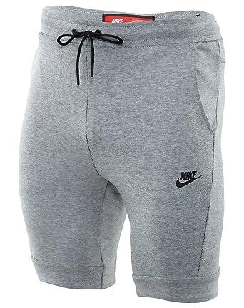 5110e9bd8012 NIKE Sportswear Tech Fleece Men s Training Shorts Grey Heather Black  805160-100 (Size