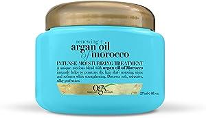 OGX Renewing + Argan Oil of Morocco Intense Hair Moisturizing Treatment, 3-in-1 Conditioner, Deep Conditioning Treatment & Hair Mask for Dry Hair, Paraben-Free, 8 oz