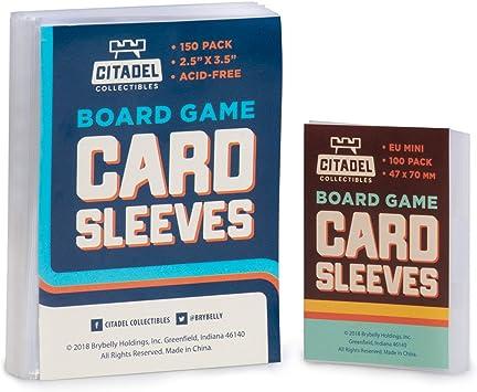 150 fundas para tarjetas estándar (2.5 pulgadas x 3.5 pulgadas) más 100 mini fundas Euro (47