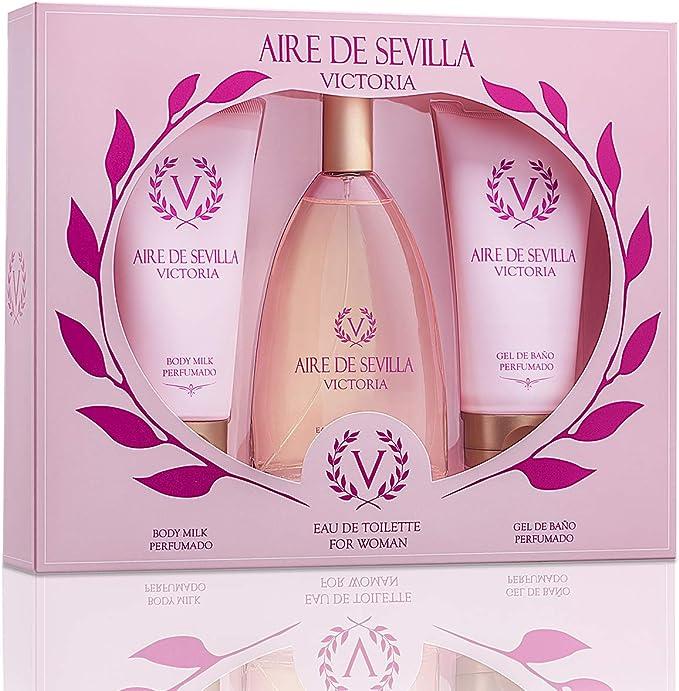 Pack Perfume Mujer Aire de Sevilla Victoria - 3 Elementos: Amazon.es: Belleza