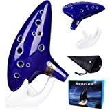 Legend of Zelda Ocarina 12 Hole Alto C with Song Book (Songs From the Legend of Zelda) Display Stand Protective Bag