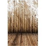 Zibuyu Wood Floor Photography Backdrop Cloth Baby Digital Photo Background Decor(A