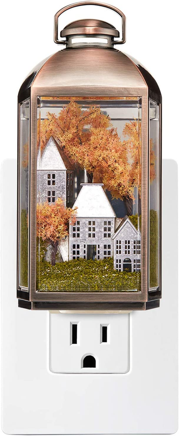 Bath and Body Works Light Up 24/7 WallFlower Diffuser Plug in Unit Fall Autumn Scenery Lantern Style