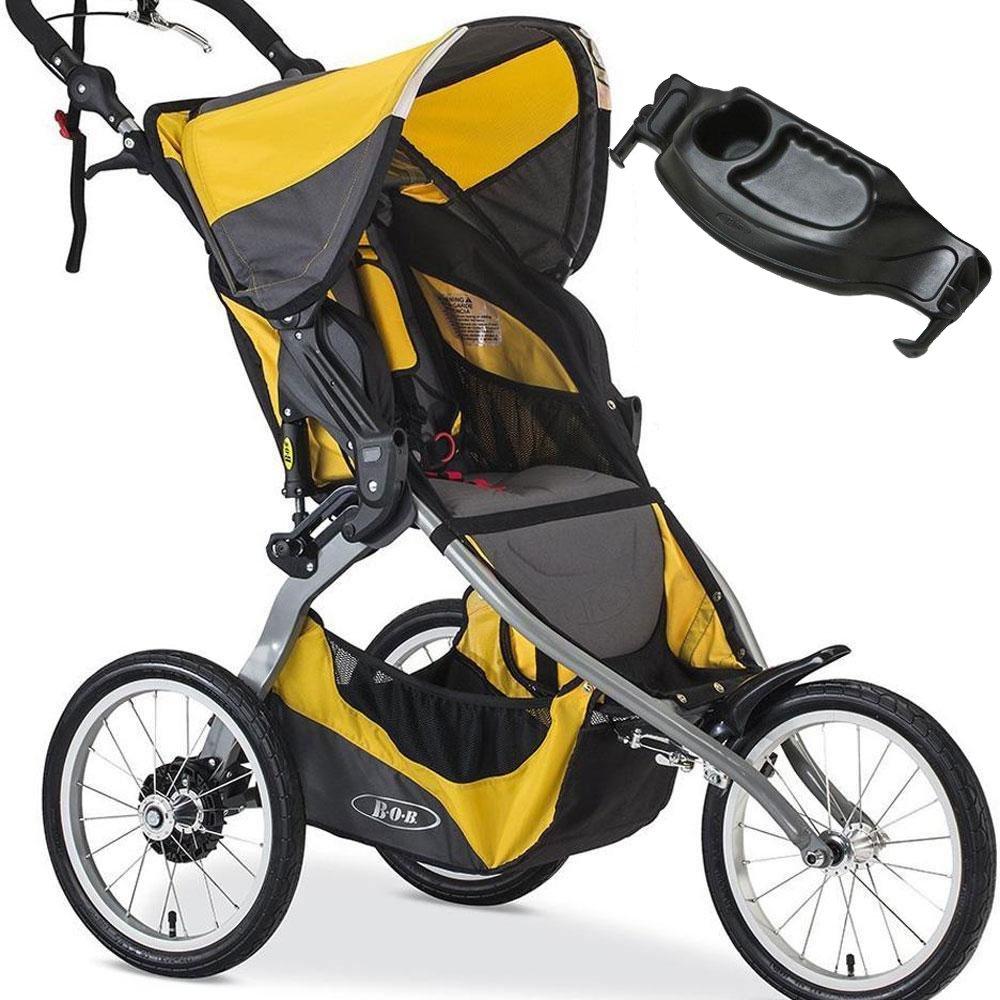 BOB Ironman Single Stroller with a diaper bag Yellow