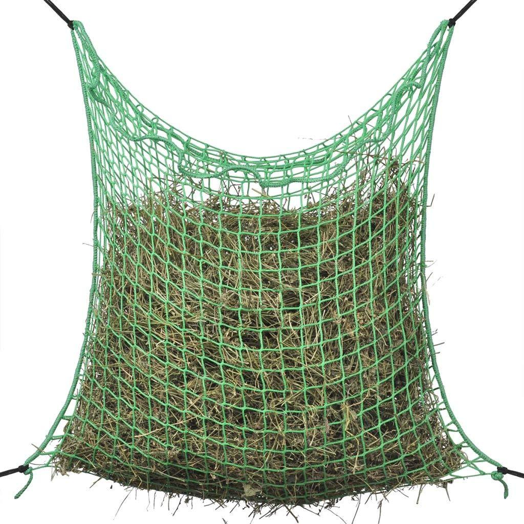 Festnight Hay Net Square Green 100% PP 0.9 x 3 m Feeding Animals