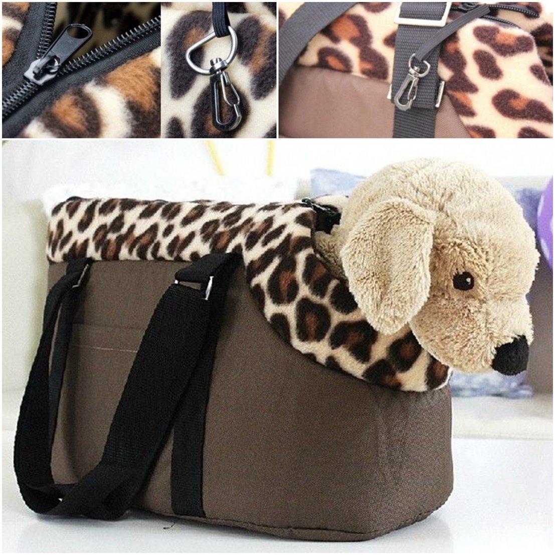 First-class Popular Pet Handbag Size L Dog Portable Travel Carrier Cat Nesting Color Coffee Leopard
