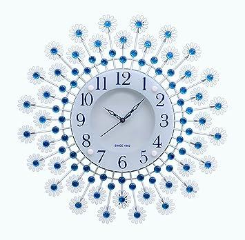 Buy Victor 215Blue Decorative MetalGlass Diamond Wall Clock