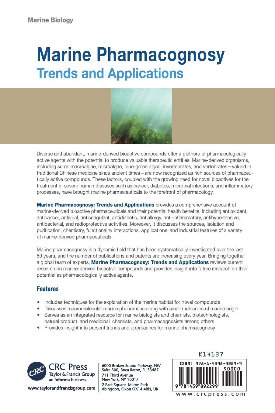 Marine Pharmacognosy: Trends and Applications